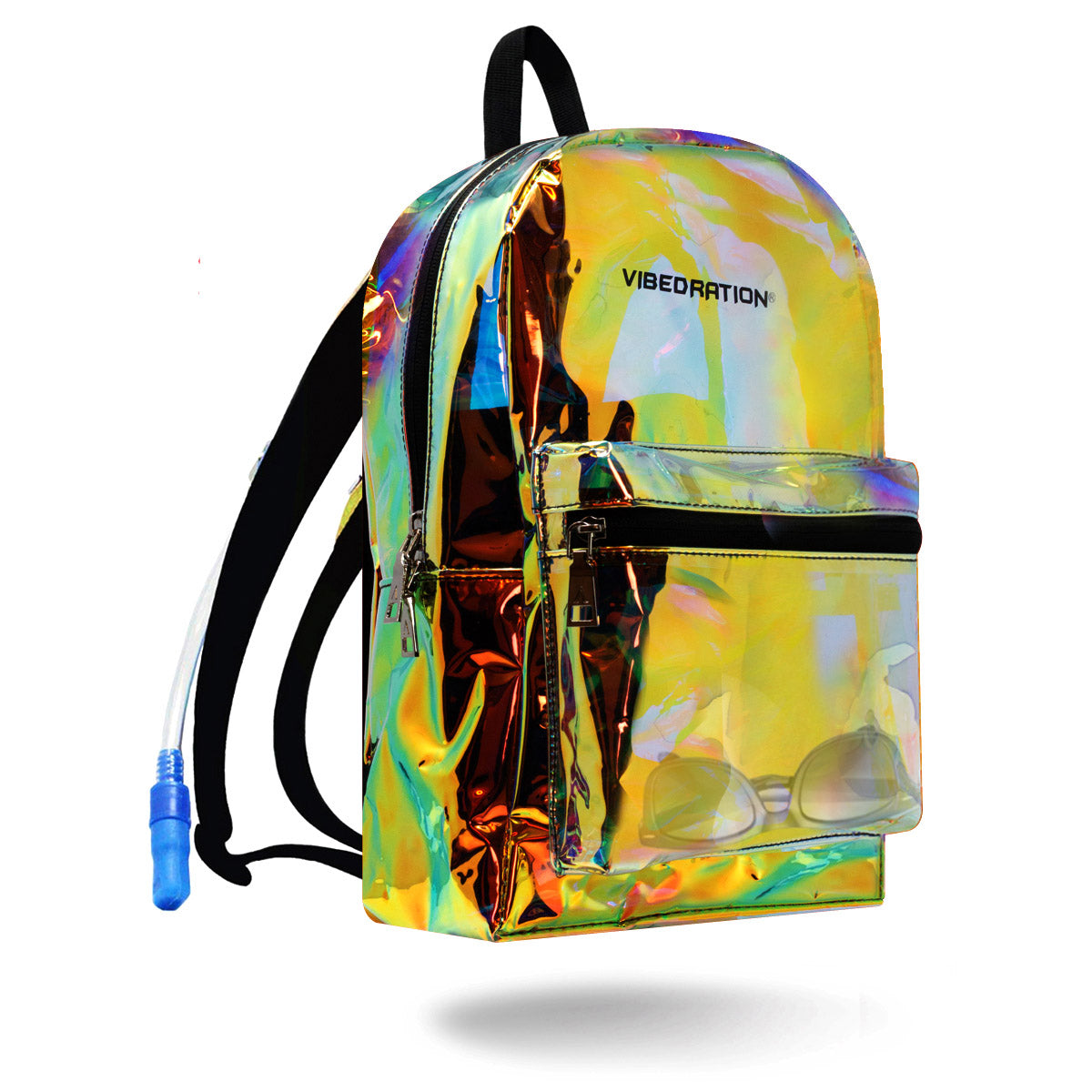 Transparent Gold Backpack for Burning Man