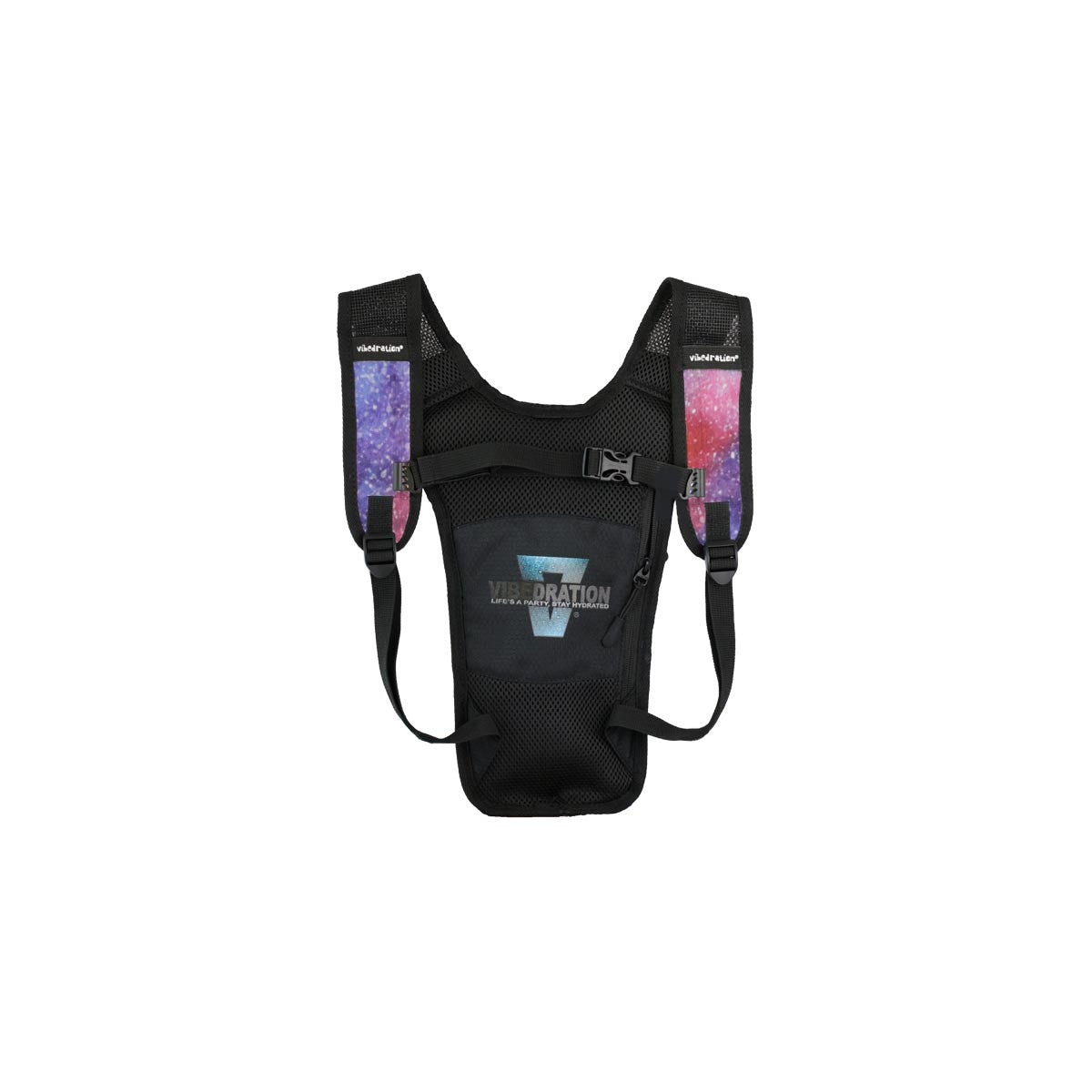 backside photo of the mini galaxy hydration pack