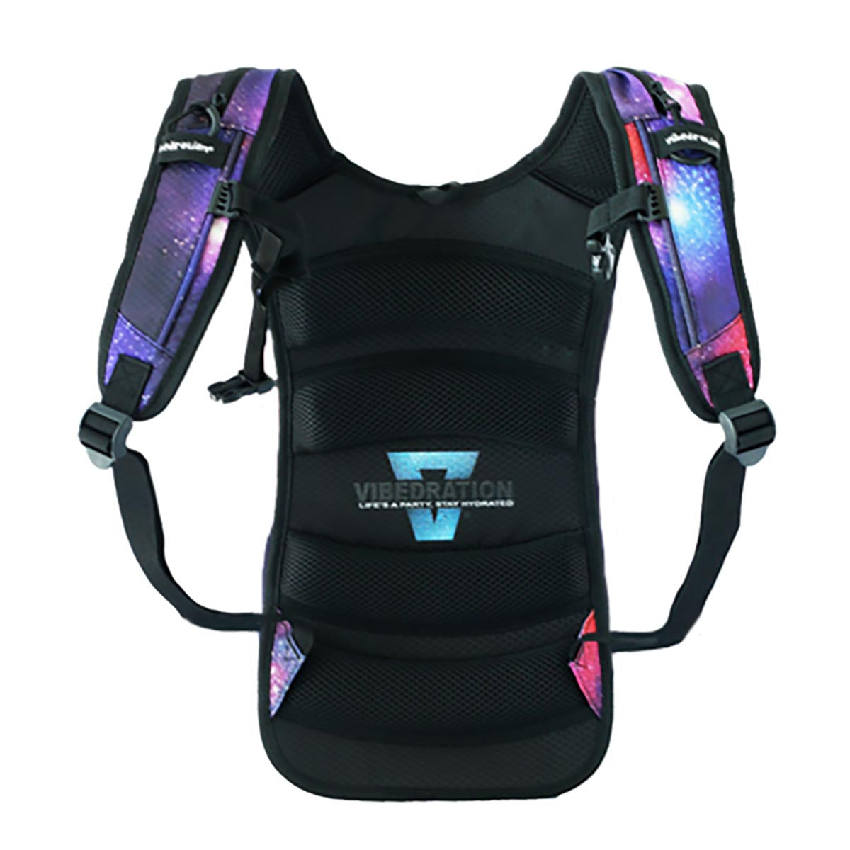 backside photo of a galaxy hydration pack