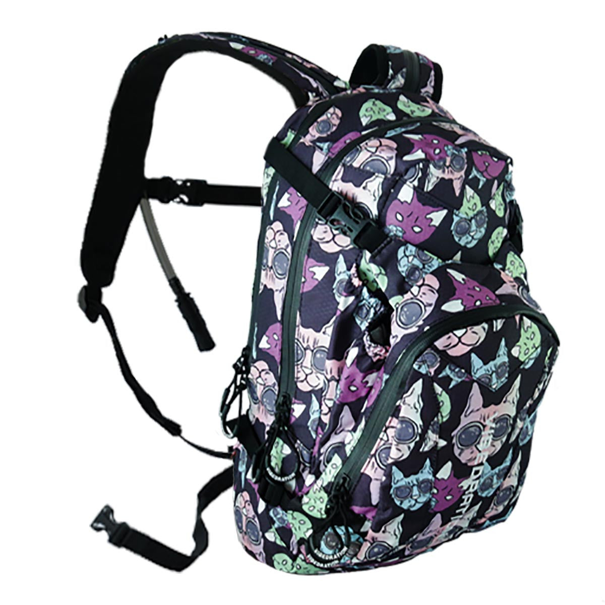 The Animal Style Party Cats hydration pack is great for festivals!