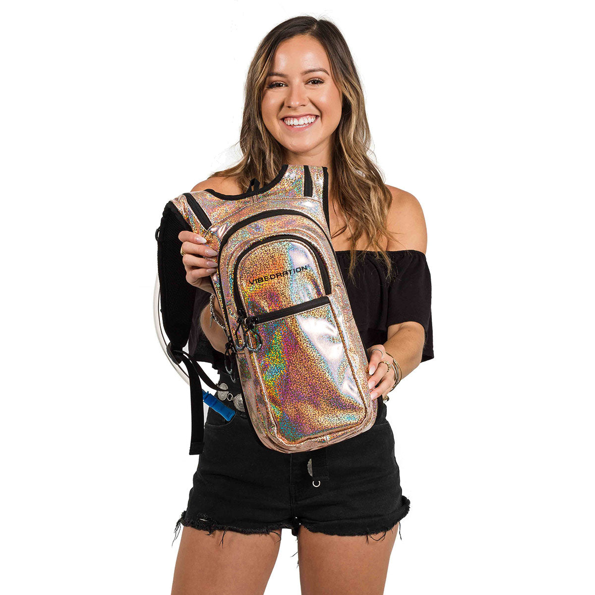 Cute Holographic Light Gold Hydration Pack
