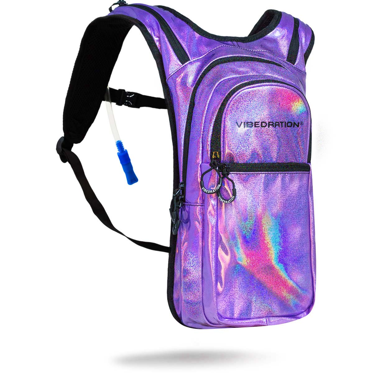 Lavender Holographic Hydration Water Pack with two liter water capacity