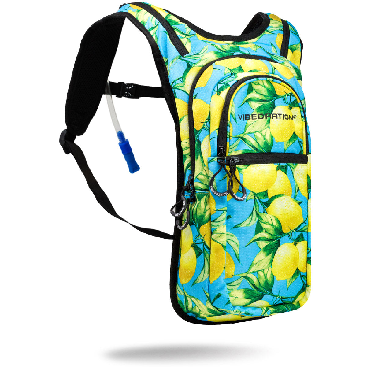 2 Liter Blue hydration pack with Lemons