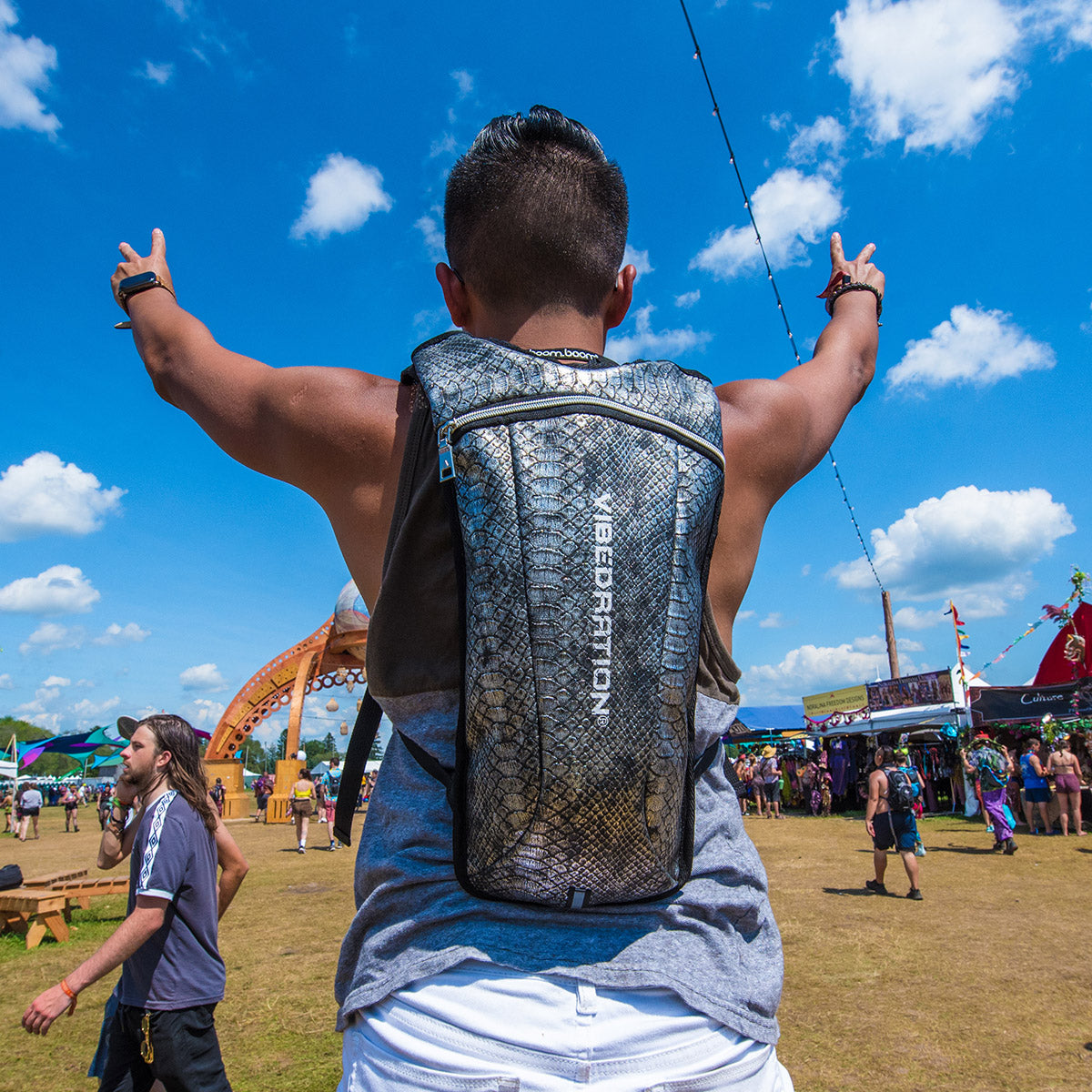 Black Hydration Pack perfect for Burning Man