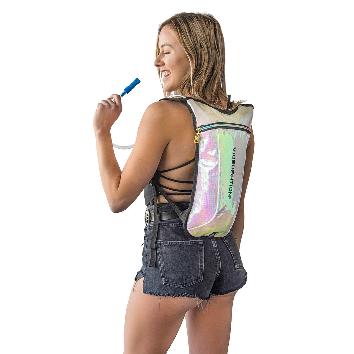 Shiny hydration pack for music festivals