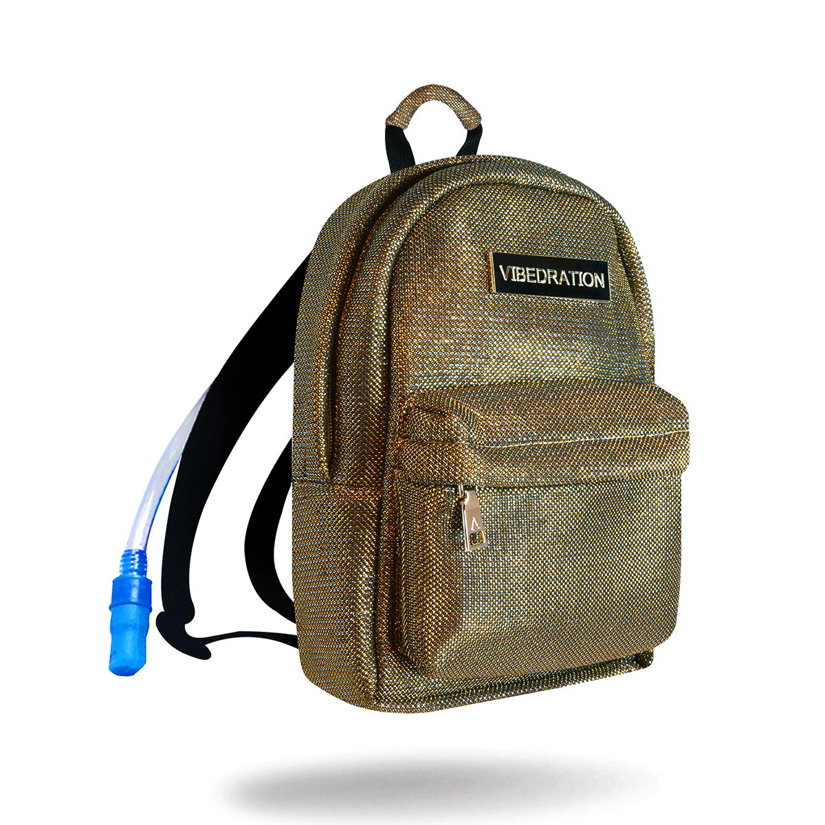 bronze mini rave hydration pack with one liter water bladder