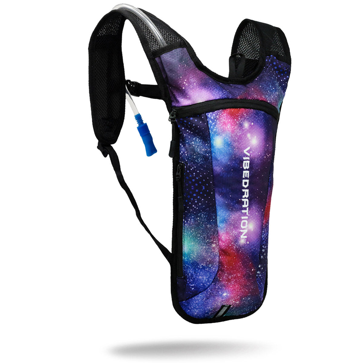 Blue, Purple & Red two liter galaxy hydration pack