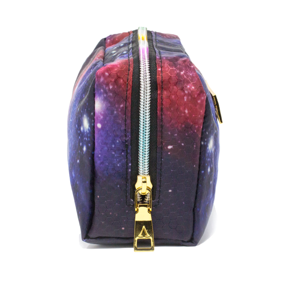 Purple, Red & Pink Galaxy Makeup Bag side