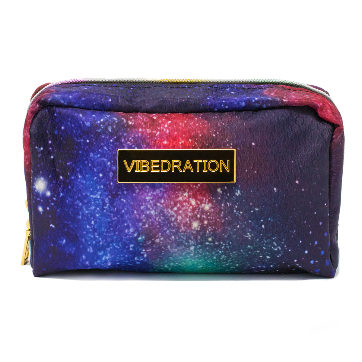 Purple, Red & Pink Galaxy Makeup Bag frontside