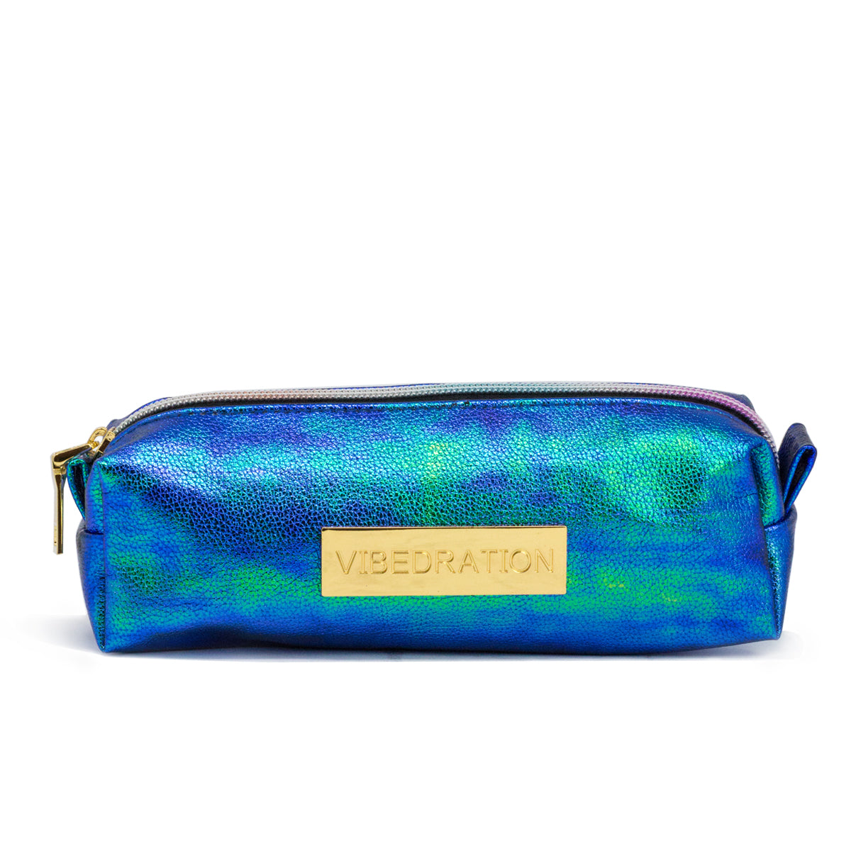 Blue and green mermaid cosmetic bag