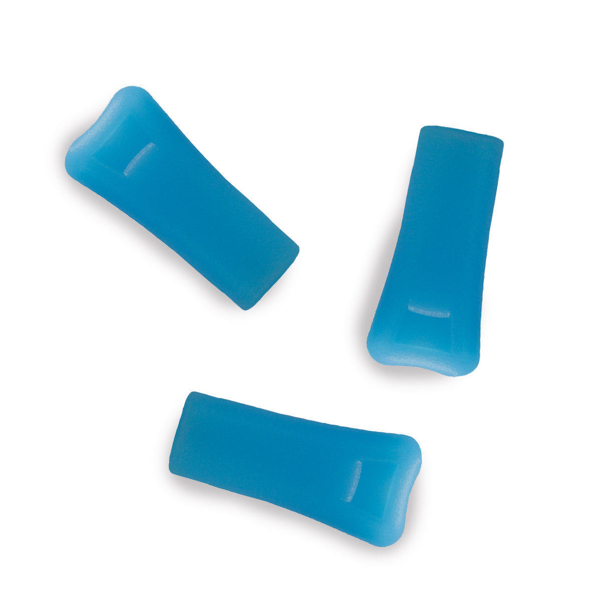 Blue replacement mouthpieces for vibedration hydration bladderss