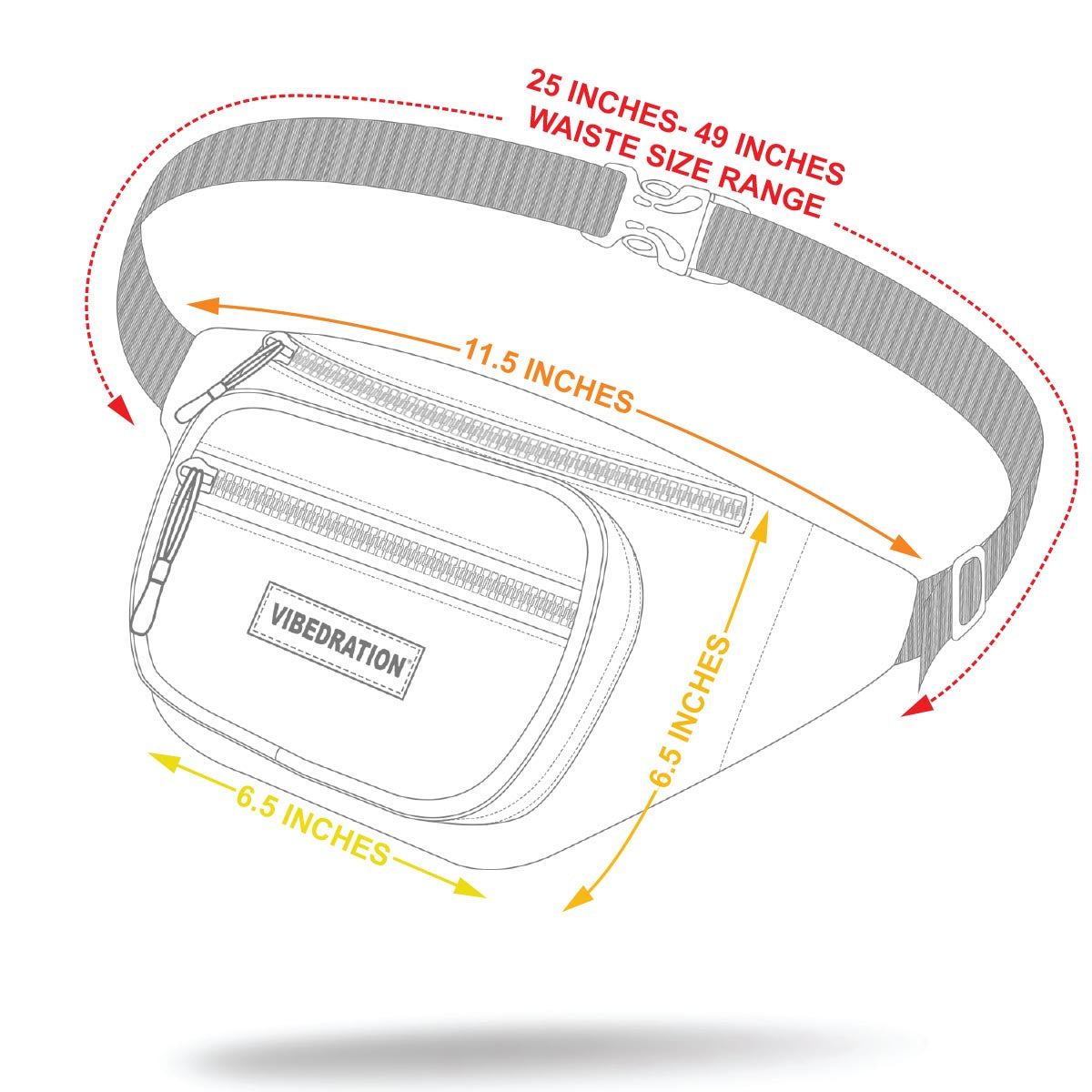 Adjustable clear fanny pack