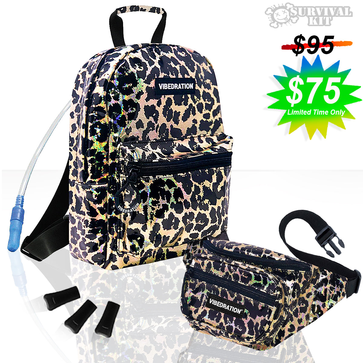 Wild Life Mini Backpack hydration bag fanny pack combo set