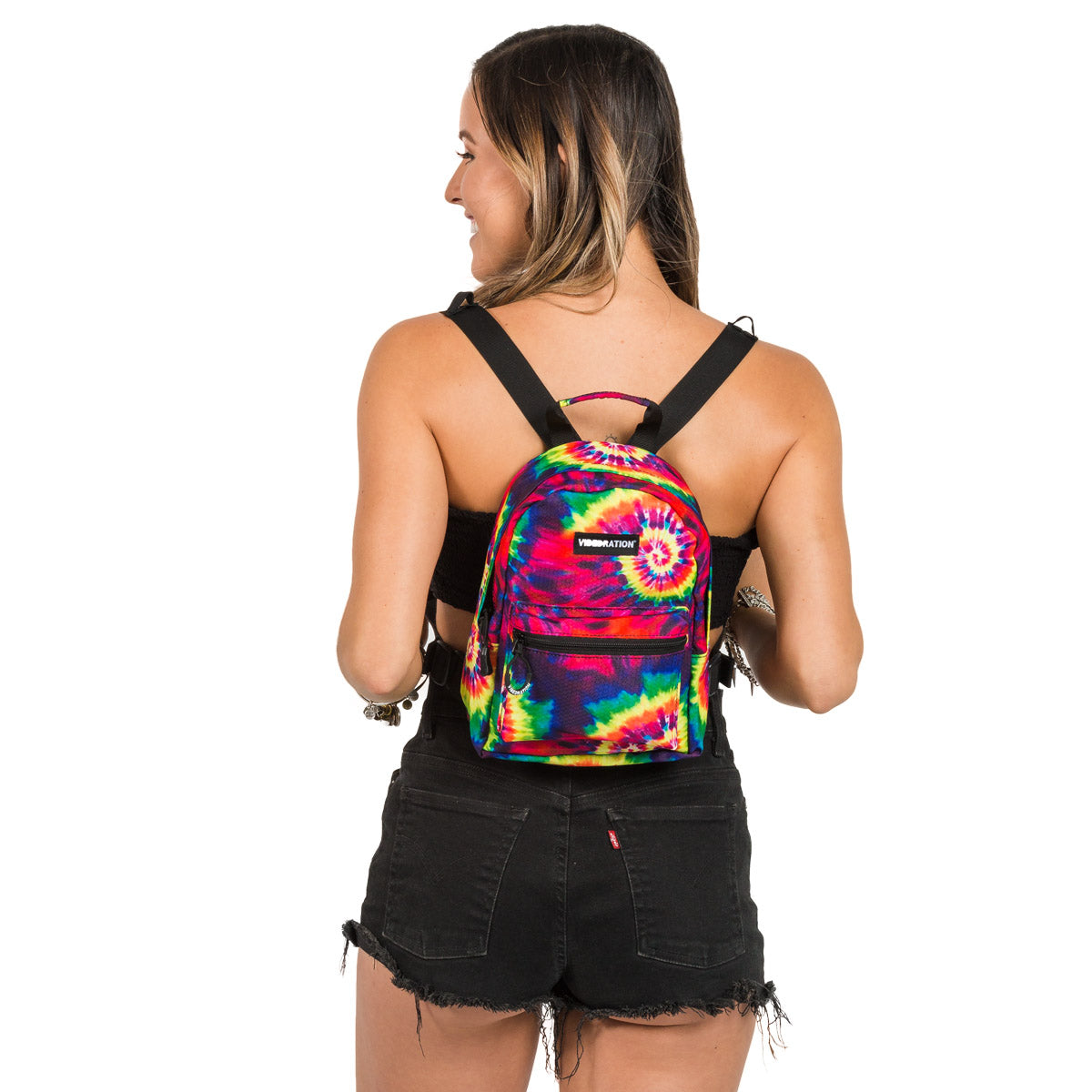 Tie-Dye Printed Mini Backpack with a Water Pack inside