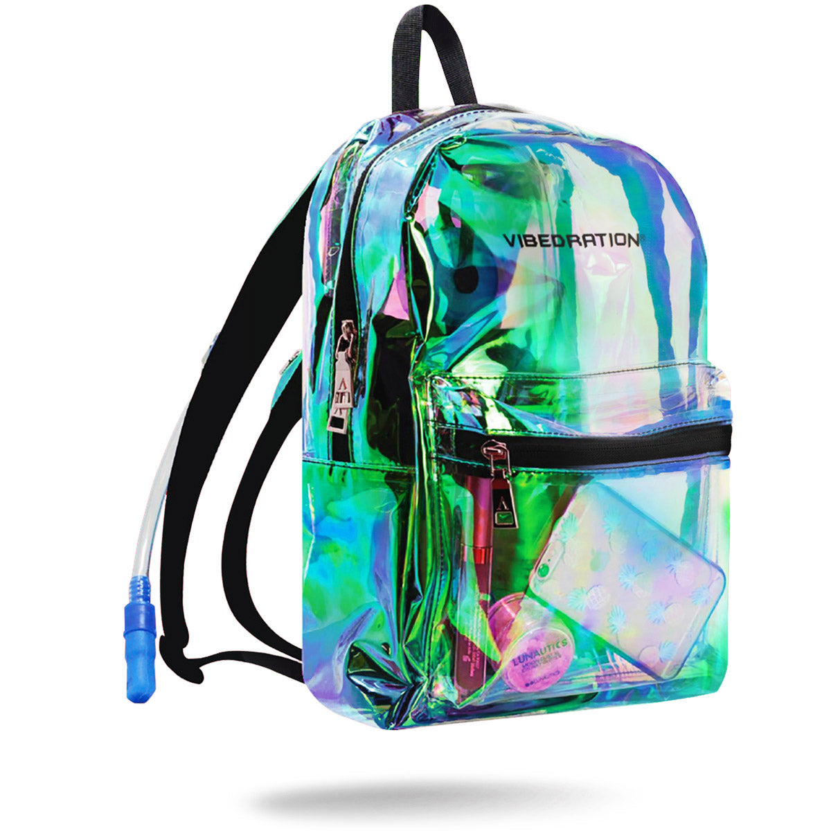 4e49714d88 Vibedration 1.5 Liter Holographic Backpack - Approved for Rave ...