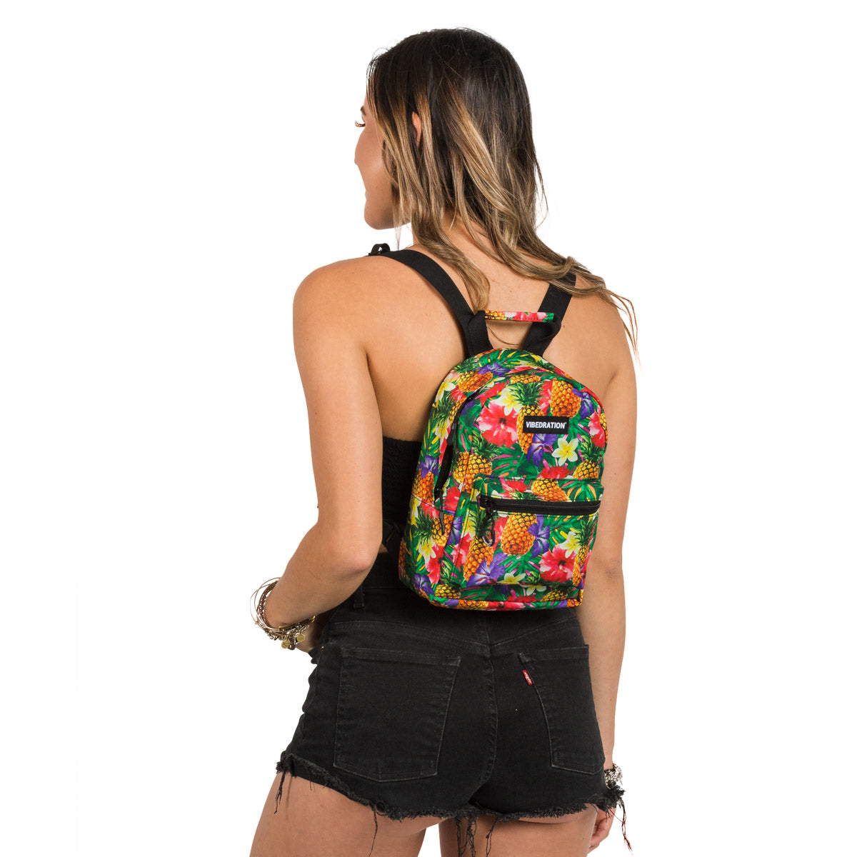 Hawaiian Flower Mini Backpack for Festivals