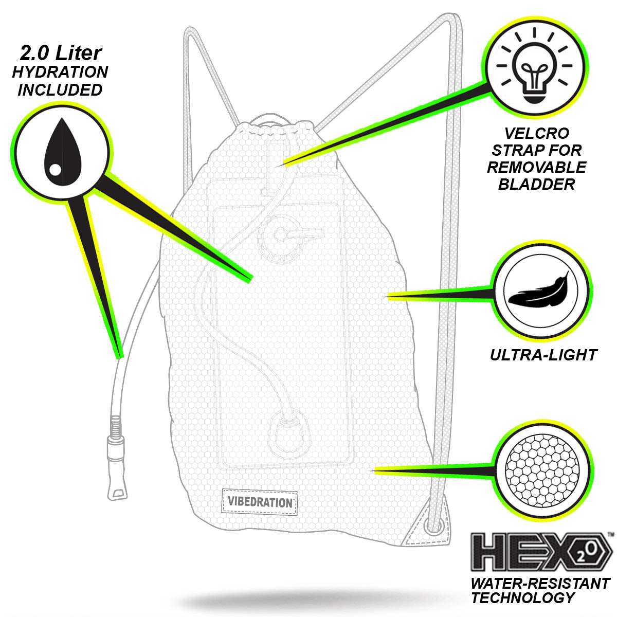 Drawstring 2.0L Backpack