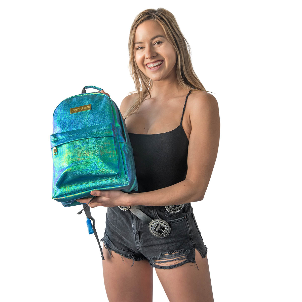 Vegan Leather hydration pack for Burning Man