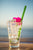 Colored Straight Glass Straws - 2 Pack