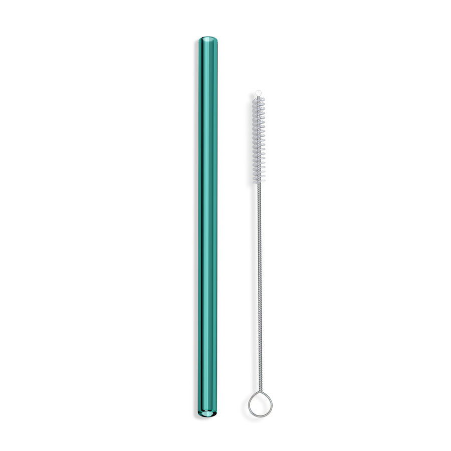 Colored Straight Glass Straws - Single Straw