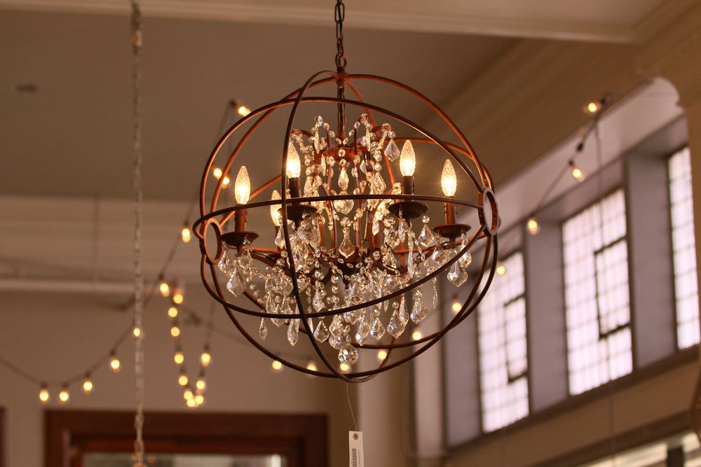 interior glow wooden chandelier