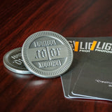 LightBox Photography Cards: Challenge Coin