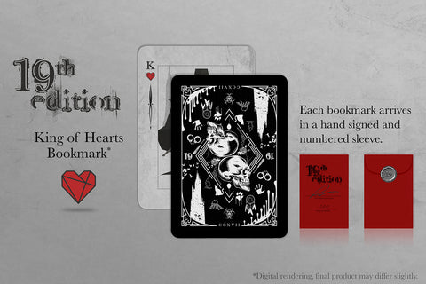 19th Edition: King of Hearts Bookmark - Signed & Numbered!
