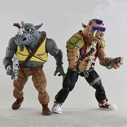 TMNT Cartoon 2-Pack - Rocksteady & Bebop