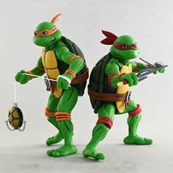 TMNT Cartoon 2-Pack - Michaelangelo & Raphael
