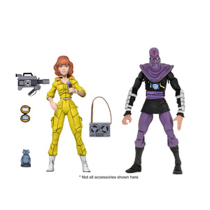 TMNT Cartoon 2-Pack - April O'Neil & Foot Soldier