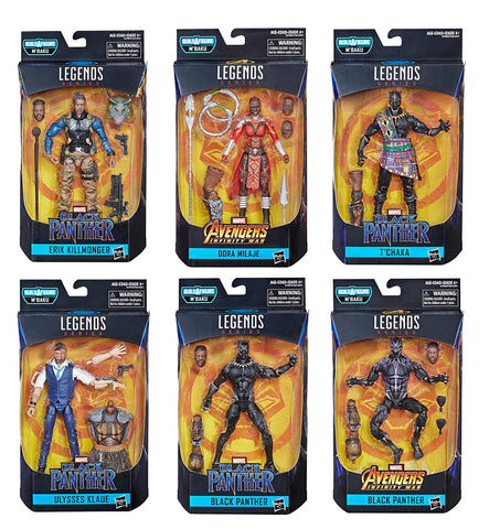 Black Panther Marvel Legends - Wave 2 Set of 6