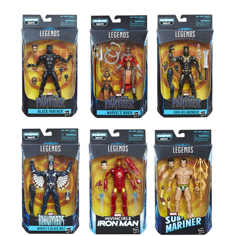 Black Panther Marvel Legends - Set of 6