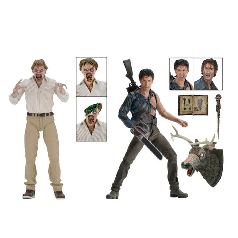 Evil Dead 2 - Hero Ash & Deadite Ed 2-Pack