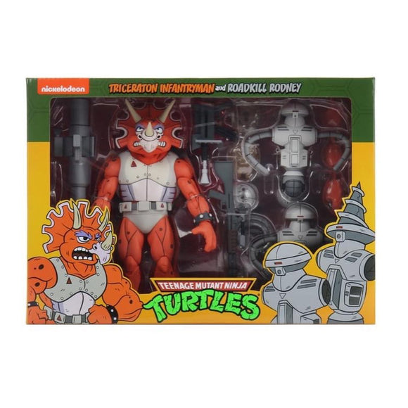 TMNT Cartoon 2-Pack - Triceraton Infantry & Roadkill Rodney