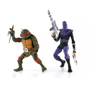 TMNT Cartoon 2-Pack - Raphael vs Foot Soldier