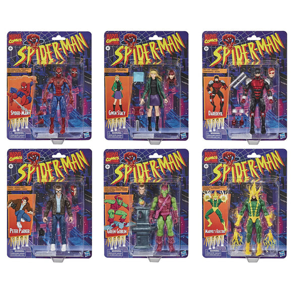 Spider-Man Marvel Legends Vintage - Set of 6