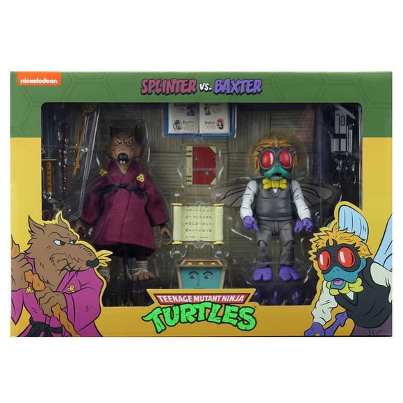 TMNT Cartoon 2-Pack - Splinter & Baxter Stockman
