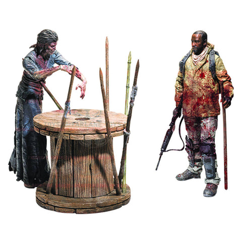 The Walking Dead TV - Deluxe Morgan with Impaled Walker