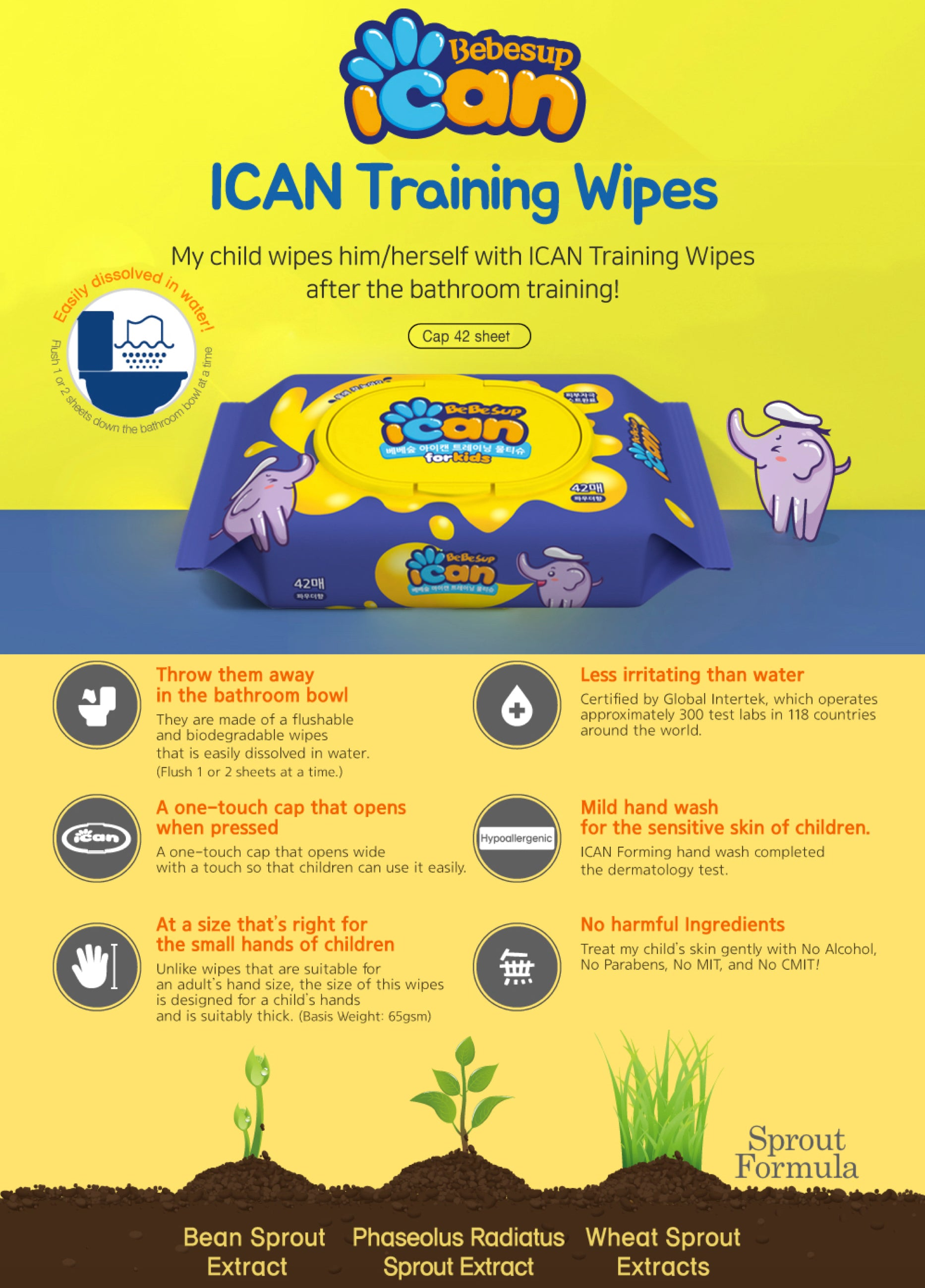 ICAN Flushable WIpes