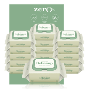 Bebesup Zero Baby Wipes, 20s x 16 Packs