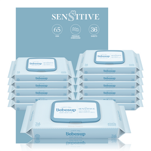 Bebesup Sensitive Baby Wipes, 36s x 12 packs