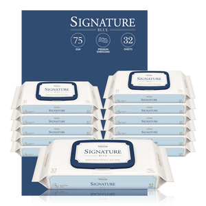 Bebesup Signature Blue Baby Wipes, 32s x 12 Packs