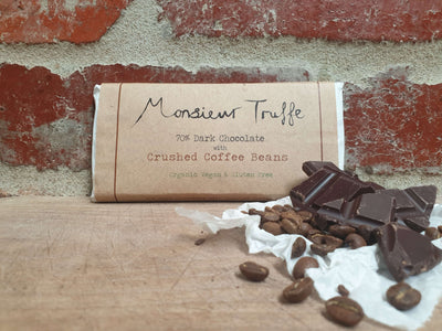 Organic Monsieur Truffe - 70% Dark with Coffee Beans - Vegan - City Chocolates
