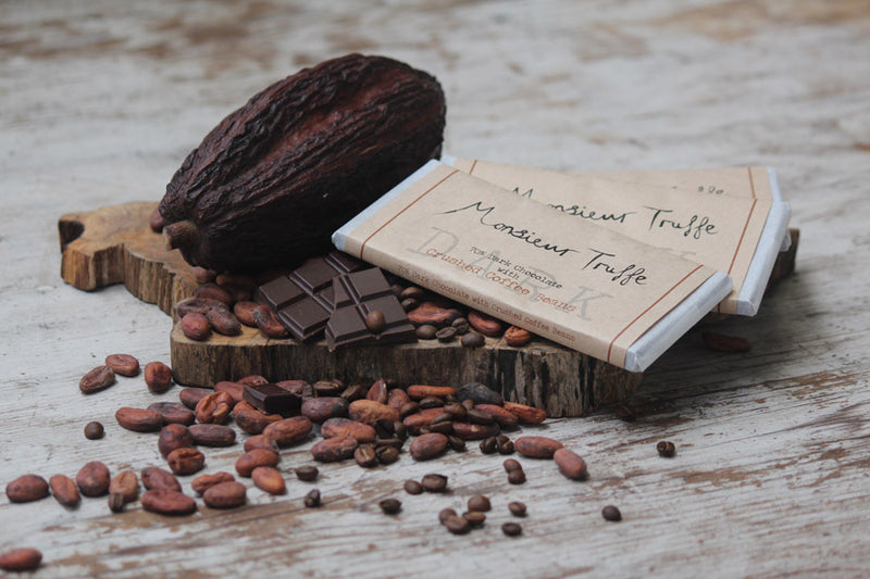 Organic Monsieur Truffe - 70% Dark Chocolate with Coffee Beans - Dairy-Free,Vegan - City Chocolates