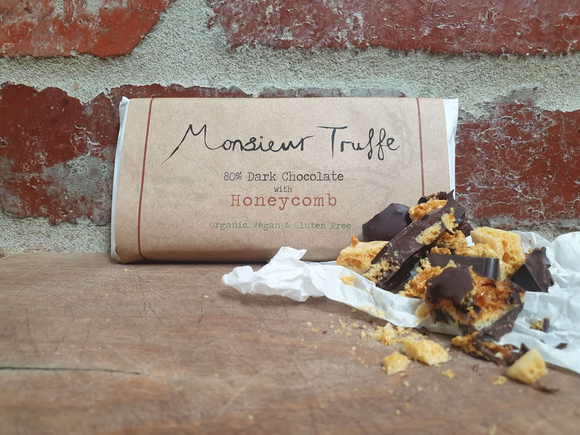Organic Monsieur Truffe - 80% Dark with Honeycomb - Vegan - City Chocolates