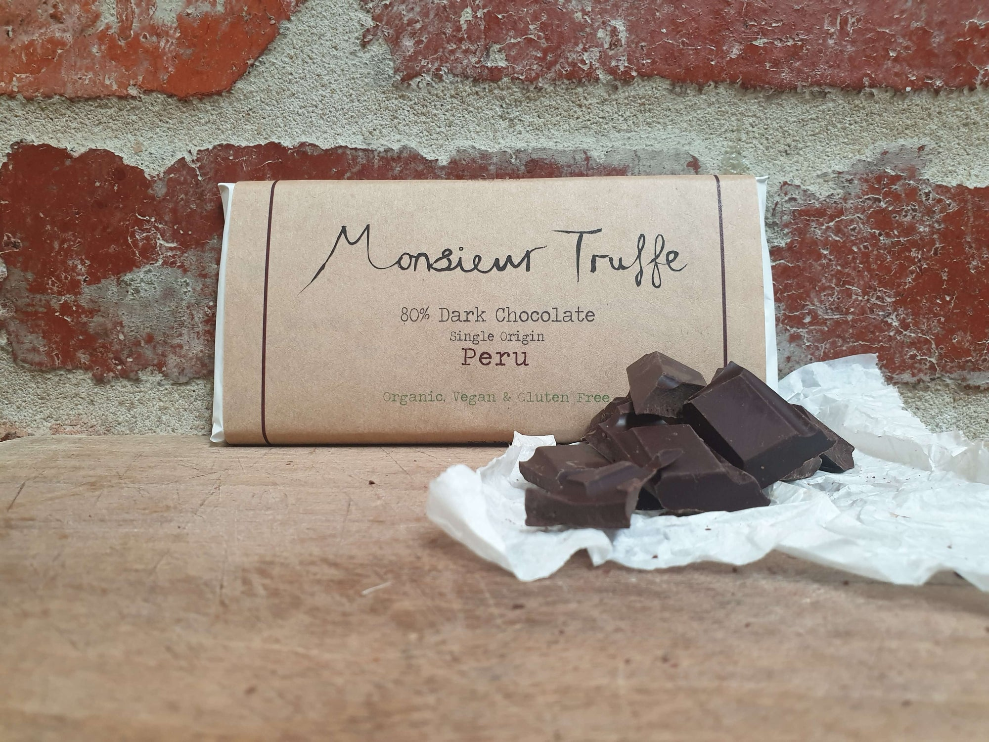 Organic Monsieur Truffe - Single Origin 70% Peru - Dairy-Free, Vegan