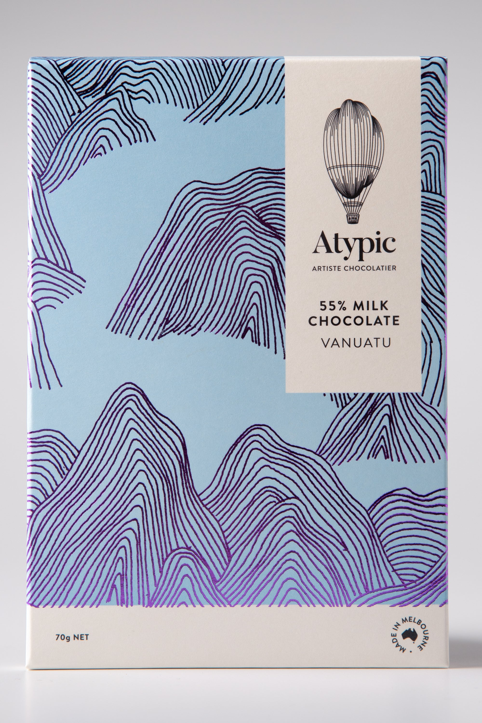 Atypic Single-Origin - 55% Vanuatu Milk Chocolate - City Chocolates