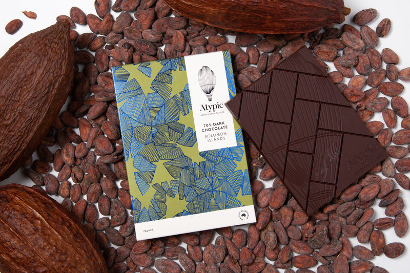Atypic Single-Origin -  70% Dark Solomon Islands - Vegan - City Chocolates