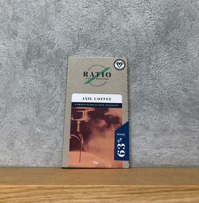 Ratio Cocoa - Axil Coffee 63% Dark Bar - Vegan - City Chocolates