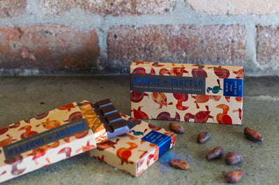 Jasper + Myrtle Black Opal - Bougainville Nunu 80% Dark Chocolate - City Chocolates